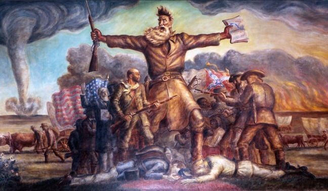 Mural of John Brown, fanatic